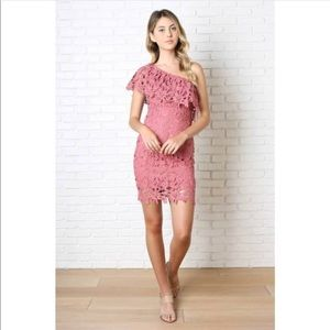NoRestForBridget One Shoulder Lace Dress